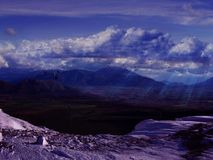 Mooi Sneeuwberglandschap Royalty-vrije Stock Afbeeldingen