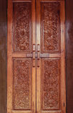 Mooi snijd houten deur royalty-vrije stock foto