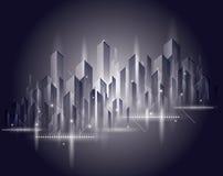 Mooi stadslandschap vector illustratie