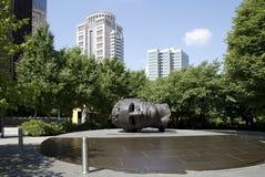 Mooi stadspark in ST van de binnenstad Louis MO de V.S. stock fotografie