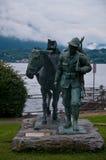 Mooi standbeeld gewijd aan de berg aan de Tweede Wereld Stock Foto