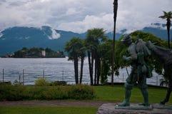 Mooi standbeeld gewijd aan de berg aan de Tweede Wereld Royalty-vrije Stock Foto's