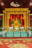 Mooi Standbeeld van Lu Dongbin, de patriarch van Chinese sekten, royalty-vrije stock foto's