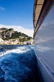 Mooi steil dorp van Amalfi stock foto