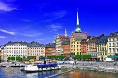 Mooi Stockholm, Sweeden Stock Foto's