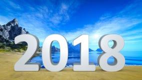mooi strand 2018 Royalty-vrije Stock Afbeelding