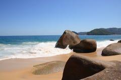Mooi strand in Brazilië Stock Foto's