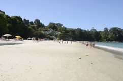 Mooi strand in Bueu Stock Afbeelding