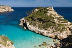 Mooi strand Cala des Moro stock foto's