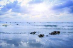mooi strand, Chonburi Thailand Royalty-vrije Stock Afbeeldingen