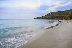 mooi strand, Chonburi Thailand Stock Afbeelding