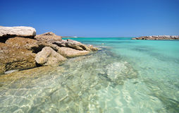 Mooi strand in de Bahamas Royalty-vrije Stock Afbeeldingen