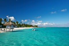 Mooi strand in de Maldiven Royalty-vrije Stock Afbeelding