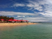 Mooi strand in Fitchi Royalty-vrije Stock Afbeeldingen