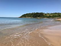 Mooi strand in het Braziliaanse Zuidwesten royalty-vrije stock foto