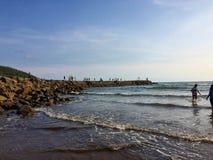 Mooi Strand in Jawa Tengah, Indonesië royalty-vrije stock afbeeldingen