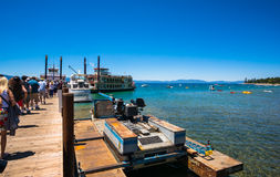 Mooi strand in Meer Tahoe, Californië Royalty-vrije Stock Foto