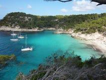 Mooi strand in Menorca royalty-vrije stock foto
