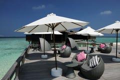 Mooi strand met pier Royalty-vrije Stock Afbeelding