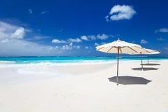 Mooi Caraïbisch strand stock foto's