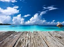 Mooi strand in Seychellen Royalty-vrije Stock Foto's