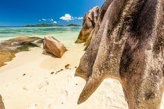 Mooi strand in Seychellen Royalty-vrije Stock Afbeelding