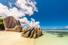Mooi strand in Seychellen Stock Foto