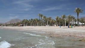 Mooi strand in Spanje stock videobeelden