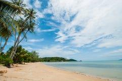 Mooi strand in zonnige dag Stock Foto's