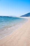 Mooi strandlandschap royalty-vrije stock afbeeldingen