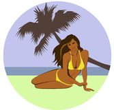 Mooi strandmeisje Royalty-vrije Stock Afbeelding