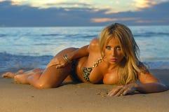 Mooi strandmeisje Stock Fotografie