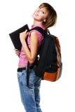 Mooi studentenmeisje stock fotografie