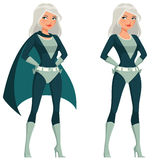 Mooi superwoman beeldverhaal Royalty-vrije Stock Afbeelding