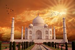 Mooi Taj Mahal Architecture, India, Agra Stock Foto's