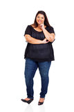Mooi te zwaar meisje Stock Fotografie