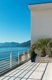 Mooi terras van een penthouse Stock Foto