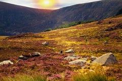 Mooi toneelberglandschap De Bergen Nationaal Park van Wicklow, Provincie Wicklow, Ierland Royalty-vrije Stock Afbeelding