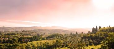 Mooi Toscaans landschap stock afbeeldingen