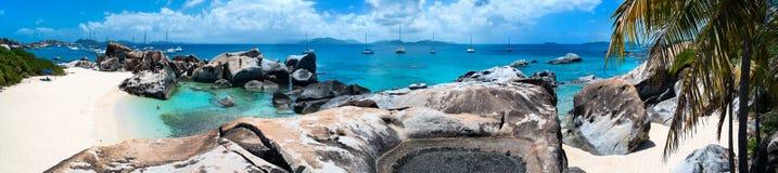 Mooi tropisch strand in de Caraïben Royalty-vrije Stock Foto's