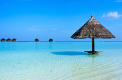 Mooi tropisch strand in de Maldiven Royalty-vrije Stock Foto's