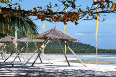 Mooi tropisch strand, Filippijnen Royalty-vrije Stock Foto's