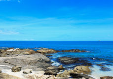 Mooi tropisch zeegezicht Royalty-vrije Stock Afbeeldingen