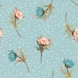 Mooi uitstekend de bloemen naadloos patroon van de pastelkleur Blazend tuin vector illustratie