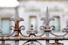 Mooi uitstekend de decoratieelement van de straatomheining Zachte nadrukfotografie Royalty-vrije Stock Afbeeldingen