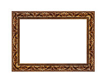 Mooi uitstekend die fotokader op een witte achtergrond wordt geïsoleerd Royalty-vrije Stock Foto's