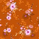 Mooi uitstekend naadloos vector bloemenpatroon, Kleurrijke backgr stock illustratie