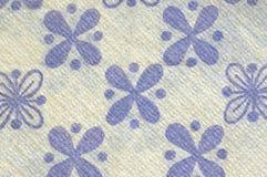 Mooi uitstekend servet, bloemenmotiv, achtergrond, document textuur Stock Afbeelding