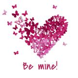 Mooi valentijnskaarthart De achtergrond van de vlinder De kaart van de valentijnskaart Vector illustratie EPS10 stock illustratie