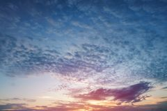 Mooi van hemelzonsondergang Stock Foto